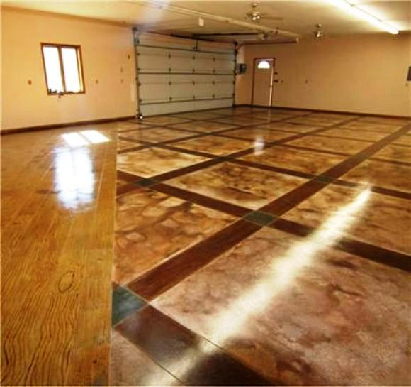 Repair renew your concrete driveway or garage floors for Stained concrete floors