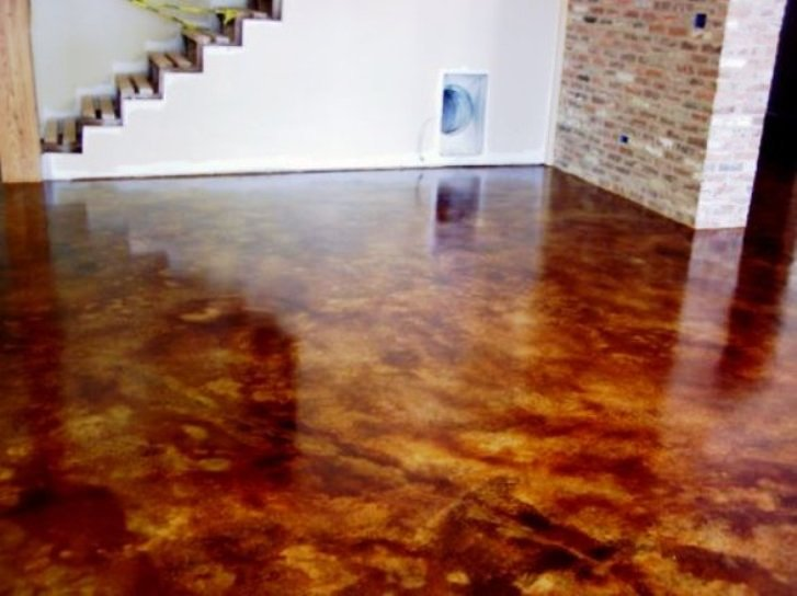 Custom Stained Concrete Floors : Tampa concrete staining stone medic