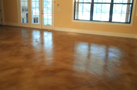 Residential Stained Concrete Floors
