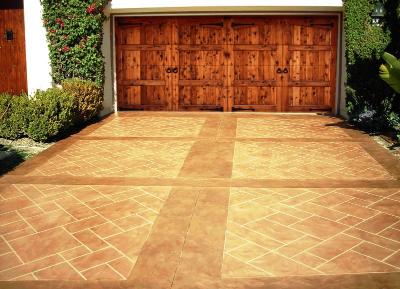 Concrete Stamping on Driveway