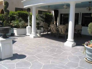 Patio with Stencil Pattern