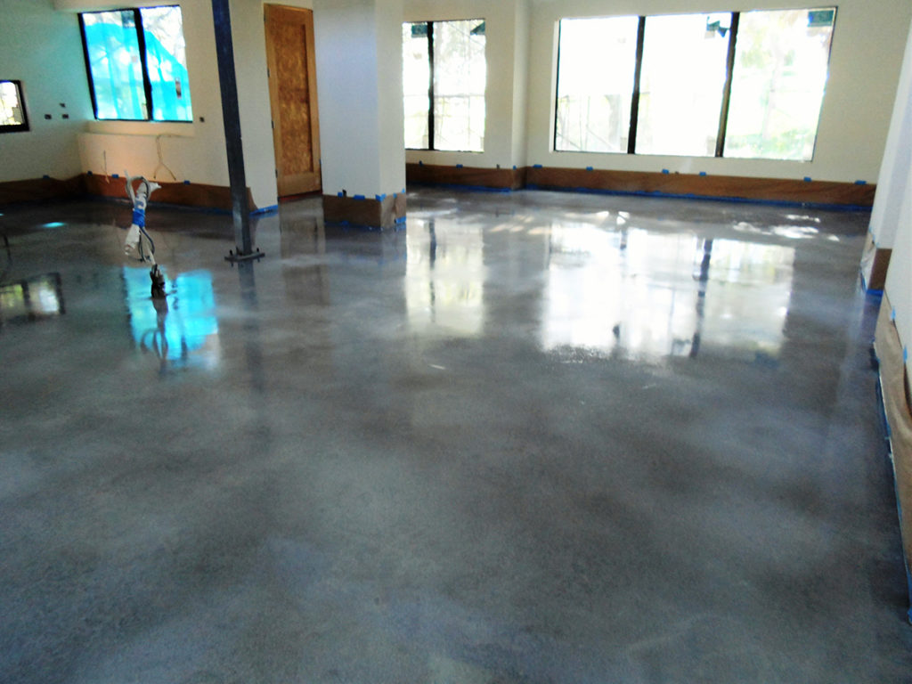 Tampa concrete staining stone medic for Residential flooring