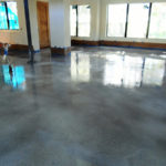 Stained Concrete Floors in a Home