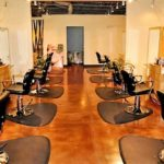 Stained Concrete Floors in a Salon
