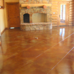 Stained Concrete Floors in a Tampa Bay Home