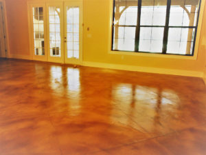 Stained Concrete Floors in a Tampa Home