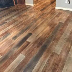 Colorful Concrete Wood Floors