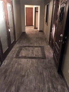 Grey Woodcrete Flooring
